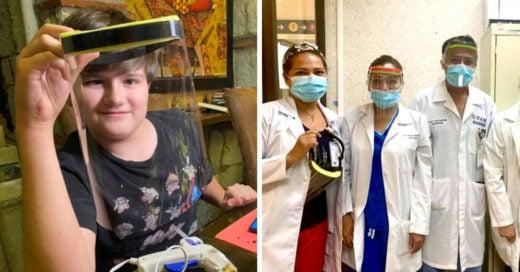 Niño mexicano fabrica caretas y las dona a hospitales destinados a pacientes con Covid-19