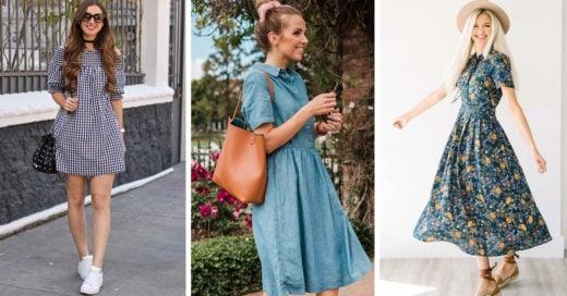 15 Outfits con vestido con los que NO necesitarás usar tacones