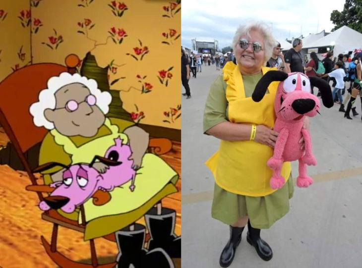 Tía Sol, la abuelita brasileña que hace cosplay; Muriel y Coraje, el perro cobarde