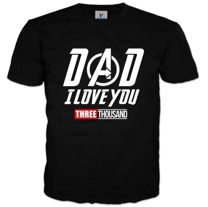 """Playera de regalo para el día del padre con la frase """"Dad I love you"""""""