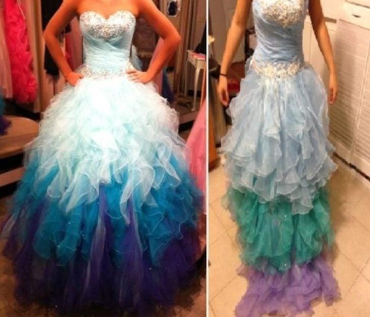 Expectativa VS realidad de vestido de fiesta comprado en línea