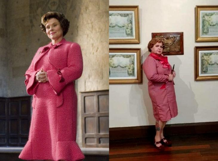 Tía Sol, la abuelita brasileña que hace cosplay; Dolores Umbridge, Harry Potter