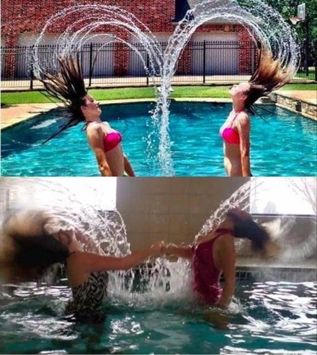 Expectativa VS realidad de fotos entre amigas