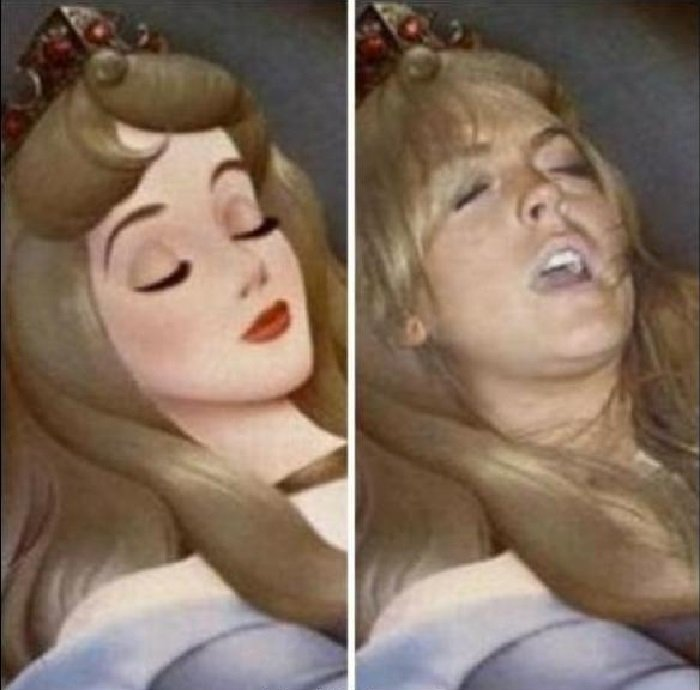 Expectativa VS realidad de ti cuando duermes
