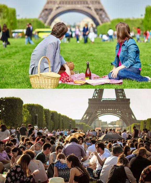 Expectativa VS realidad de vacaciones en Paris