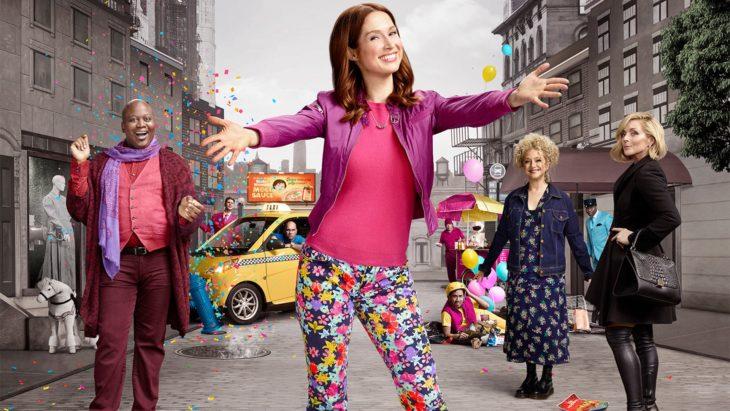 Elenco de la serie Unbreakable Kimmy Schmidt de Ntflix en la portada promocional del programa