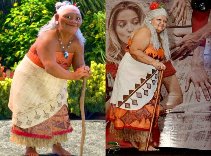Tía Sol, la abuelita brasileña que hace cosplay; Abuela de Moana, Tala