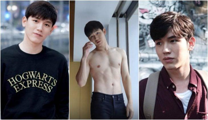 New Thitipoom actor tailandes modelando sin camisa