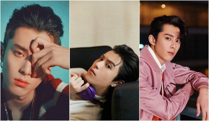 Dylan Wan actor chino recostado en un sofá