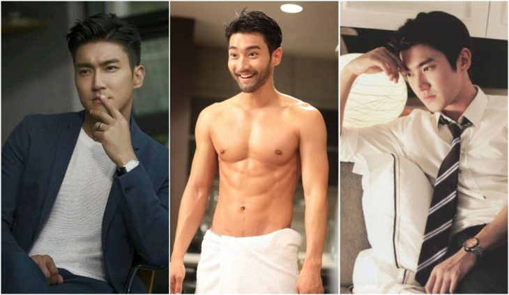 Choi Siwon de Super Junior modelando para una revista de moda en corea del sur