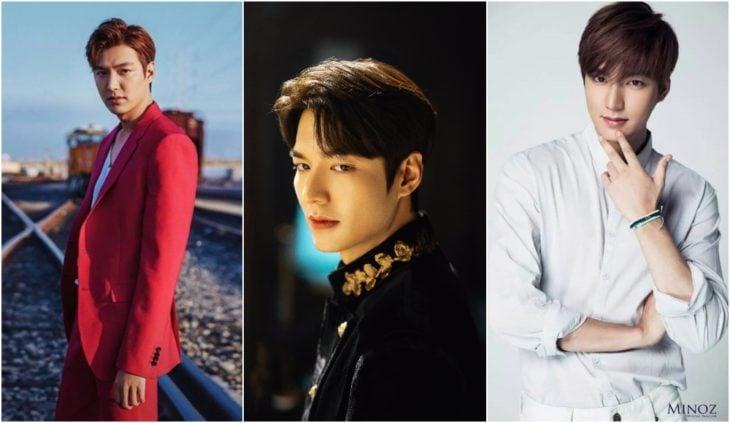 Lee Min-Ho modelando para una revista de moda y en su papel como King