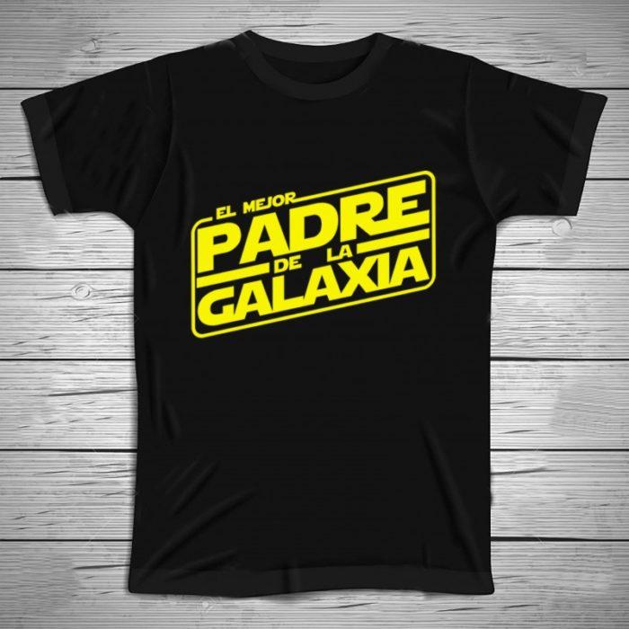 """Playera de regalo para el día del padre con la frase """"El mejor padre de la galaxia"""""""