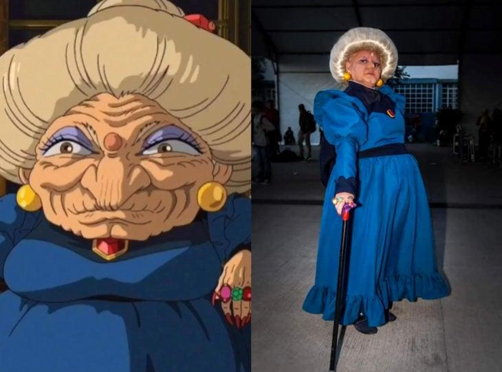 Tía Sol, la abuelita brasileña que hace cosplay; El viaje de Chihiro, bruja Yubaba
