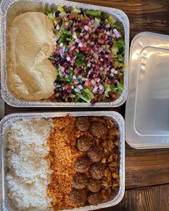 Platillos preparados por Hamza y Anas Deib