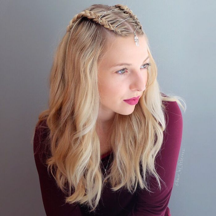 Braids with decorative chains