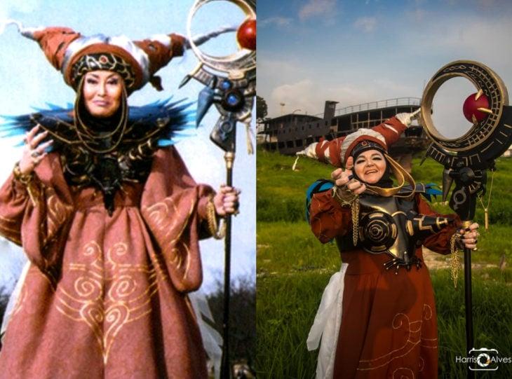 Tía Sol, la abuelita brasileña que hace cosplay; Rita Repulsa, Power Rangers