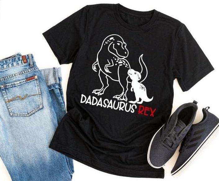 """Playera de regalo para el día del padre con la frase """"Dadasaurus rex"""""""