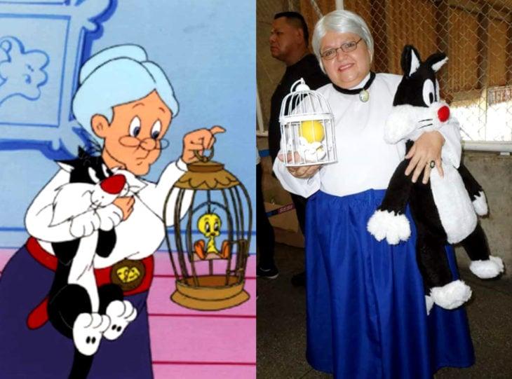 Tía Sol, la abuelita brasileña que hace cosplay; Abuela de Silvestre y Piolín, Emma Webster