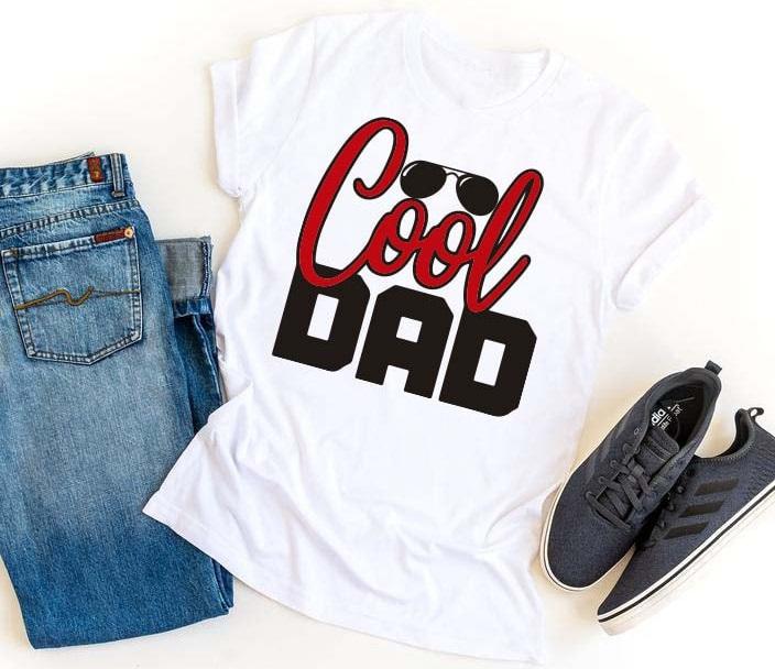 """Playera de regalo para el día del padre con la frase """"Cool dad"""""""