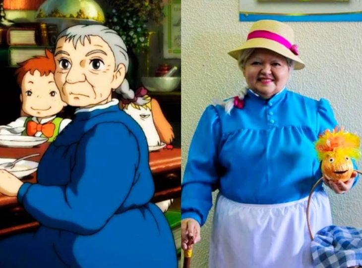 Tía Sol, la abuelita brasileña que hace cosplay; El castillo vagabundo, Sophie viejita