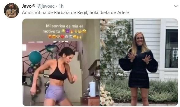 Tuit sobre la perdida de peso de Adele