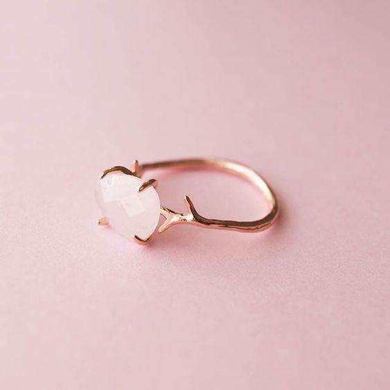 Anillos bonitos en oro rosa o rose gold
