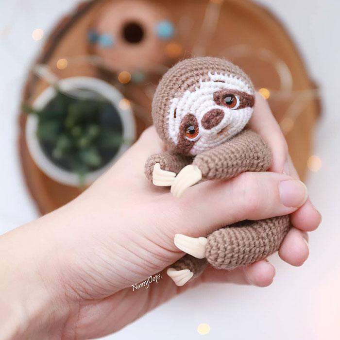 Perezoso de crochet
