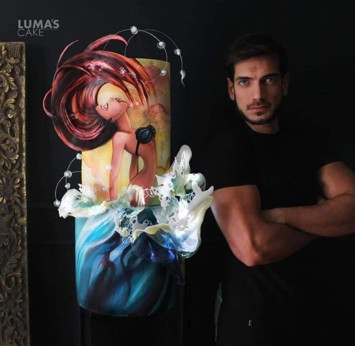 Javier Azocar pastel Ariel