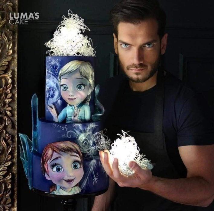 Javier Azocar pastel Frozen