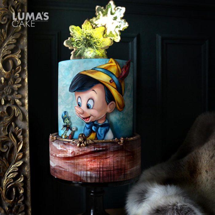 Javier Azocar pastel Pinocho