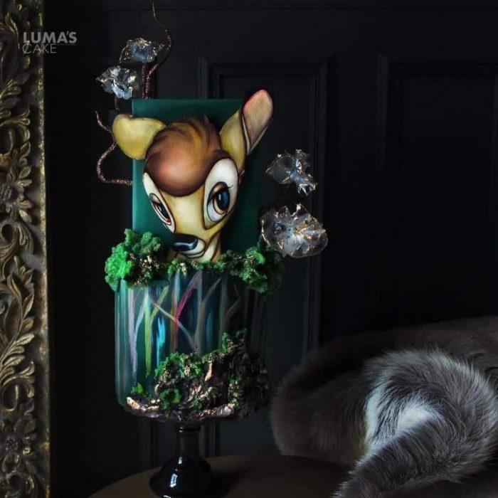 Javier Azocar pastel Bambi