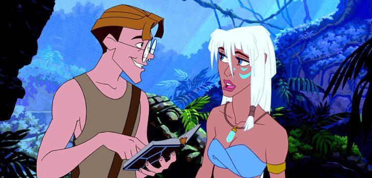 Milo y la princesa Kida de la película de Atlantis: el imperio perdido
