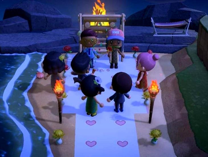 Parejas se casan en medio de cuarentena por coronavirus; personajes de Animal Crossing
