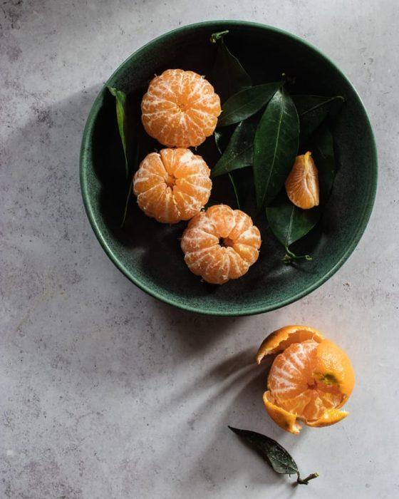 Bowl con mandarinas
