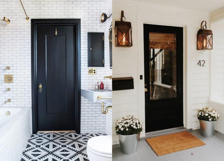 Decoración negra para tu casa; puerta