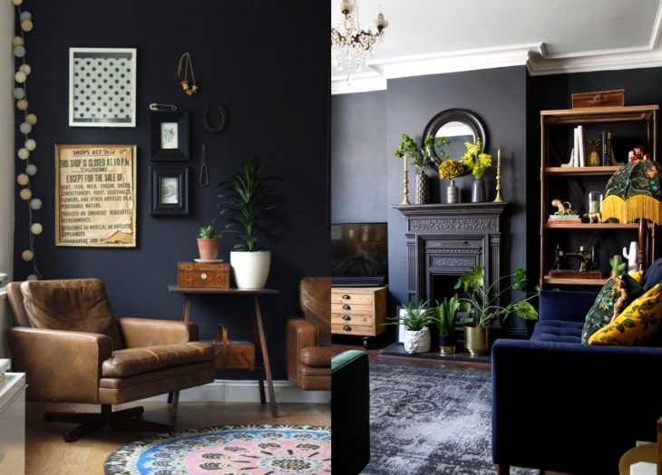 Decoración negra para tu casa; sala