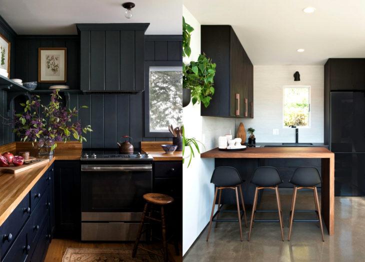 Decoración negra para tu casa; cocina