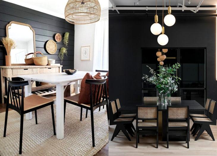 Decoración negra para tu casa; comedor