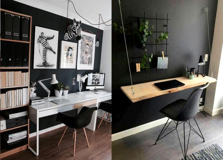 Decoración negra para tu casa; oficina