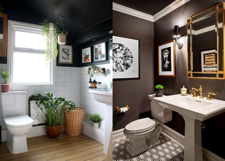 Decoración negra para tu casa; baño