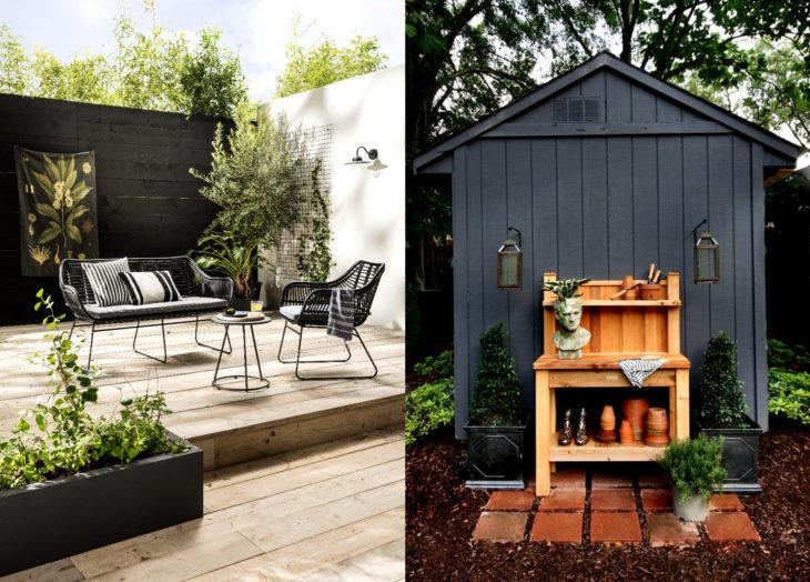 Decoración negra para tu casa; jardín