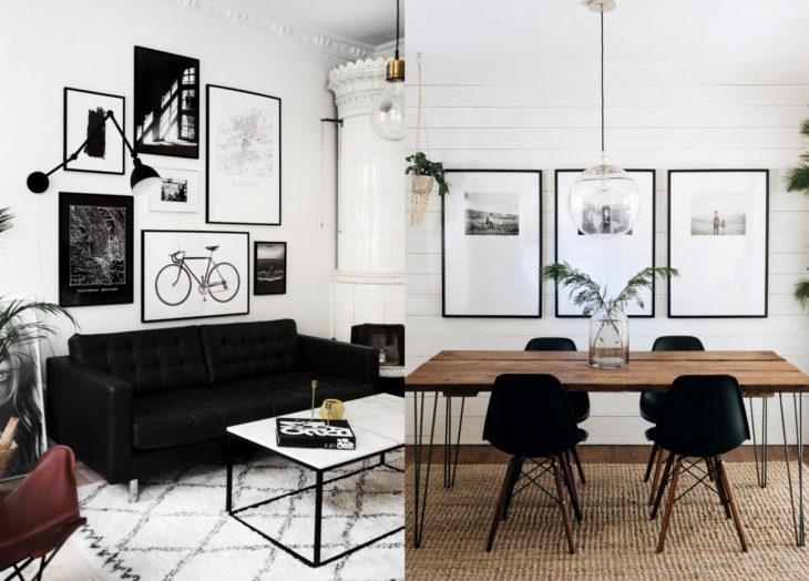 Decoración negra para tu casa; muebles