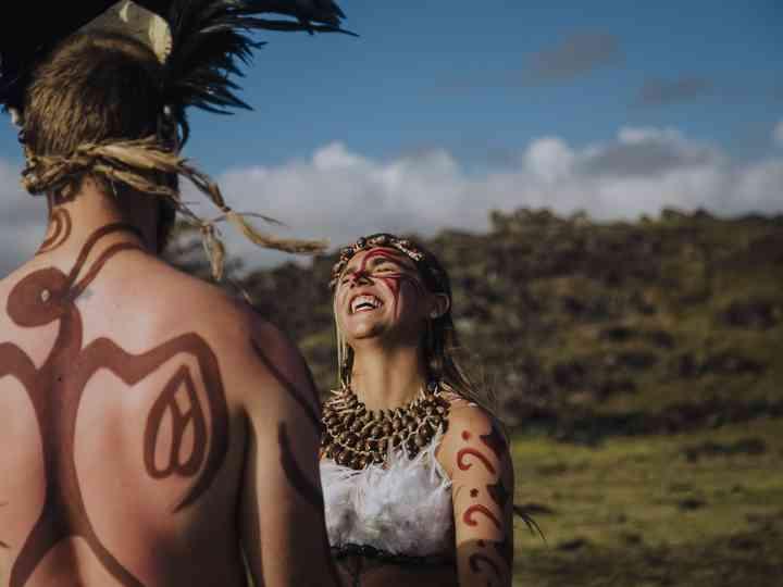 Pareja de novios en una Ceremonia Rapa Nui