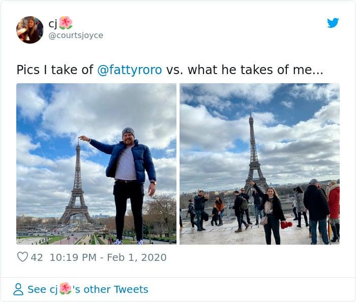 Fotos que le tomas a tu novio vs las que te toma él