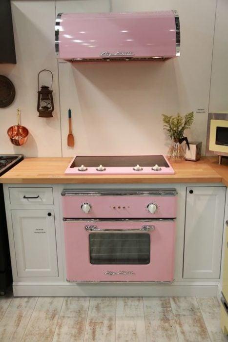 Estufa rosa