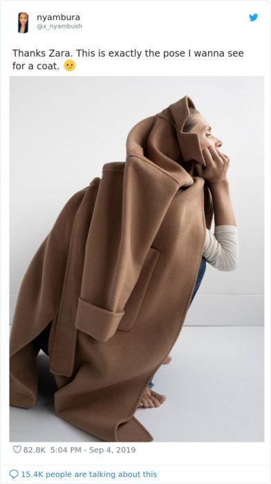 Modelos de Zara posan extraño en página web