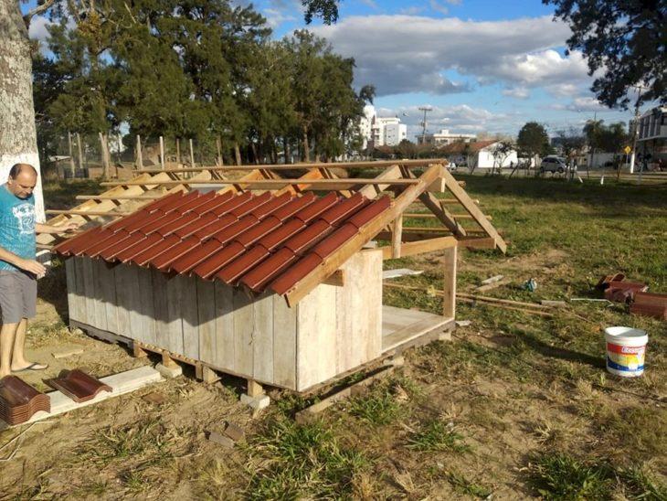 Construcción de condominios de casa de perritos
