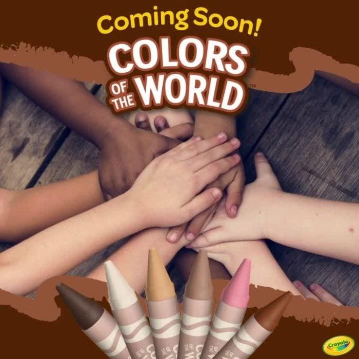 Publicidad de Crayola para su línea colores del mundo