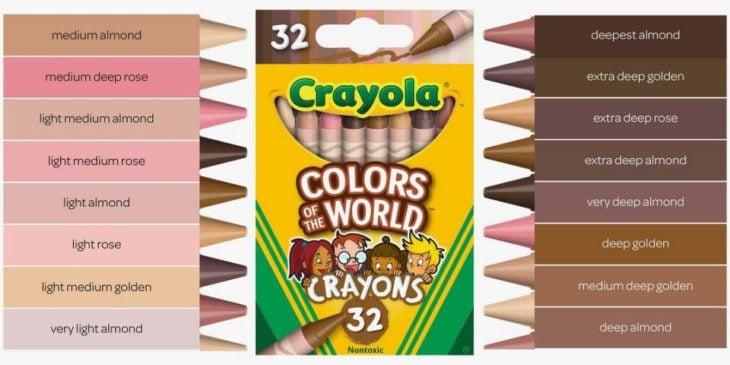 Caja de crayones de la línea Colores del mundo