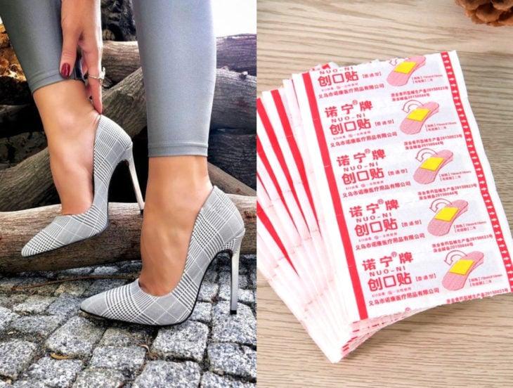 Tips para que los zapatos luzcan como nuevos; curitas, tazones stilettos grises